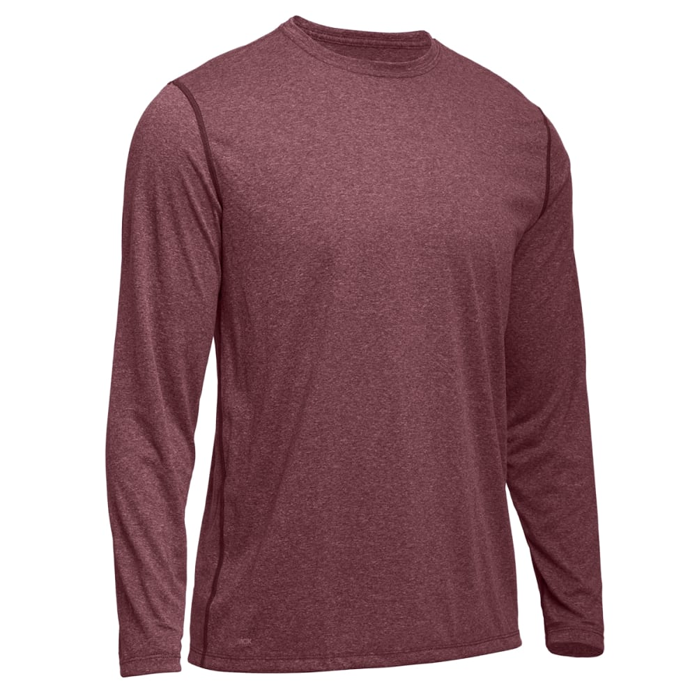 EMS® Men's Techwick® Essentials Long-Sleeve Crew   - ANDORRA HEATHER