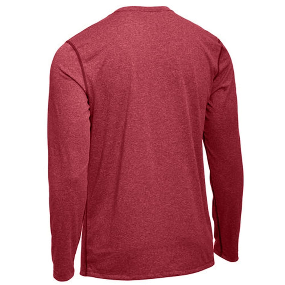 EMS Men's Techwick Essentials Long-Sleeve Crewneck Shirt - RED CLAY HEATHER