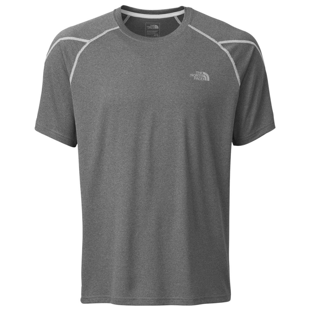 THE NORTH FACE Men's Voltage Short-Sleeve Crew Neck Tee Shirt - GBA-TNF MED GREY
