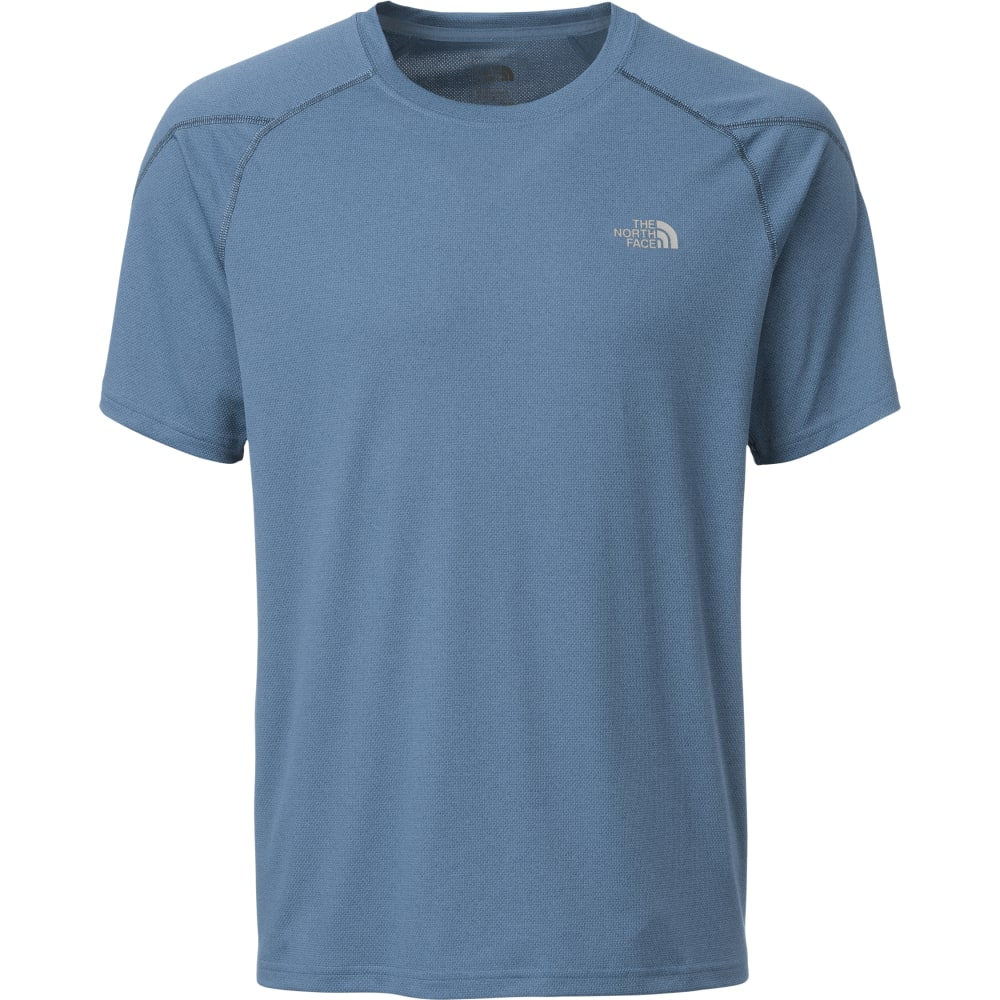 THE NORTH FACE Men's Voltage Short-Sleeve Crew Neck Tee Shirt - HKW-SHADY BLU HETHER