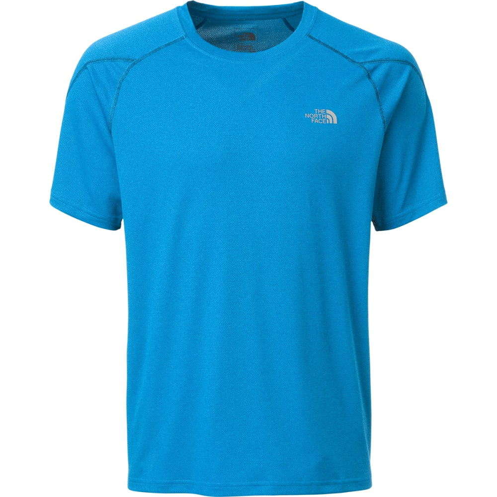 THE NORTH FACE Men's Voltage Short-Sleeve Crew Neck Tee Shirt - G8N-BLU ASTER HETHER
