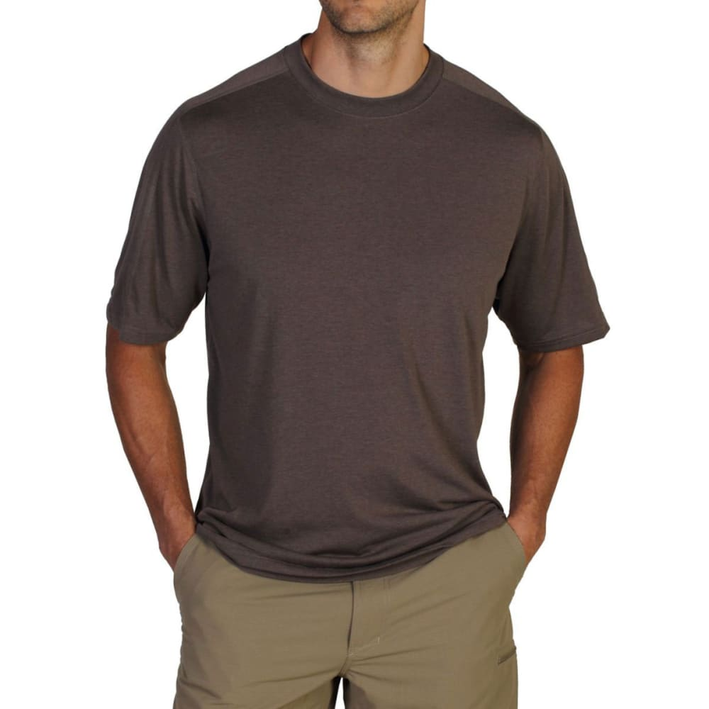 EXOFFICIO Men's NioClime Short-Sleeve Tee   - CIGAR