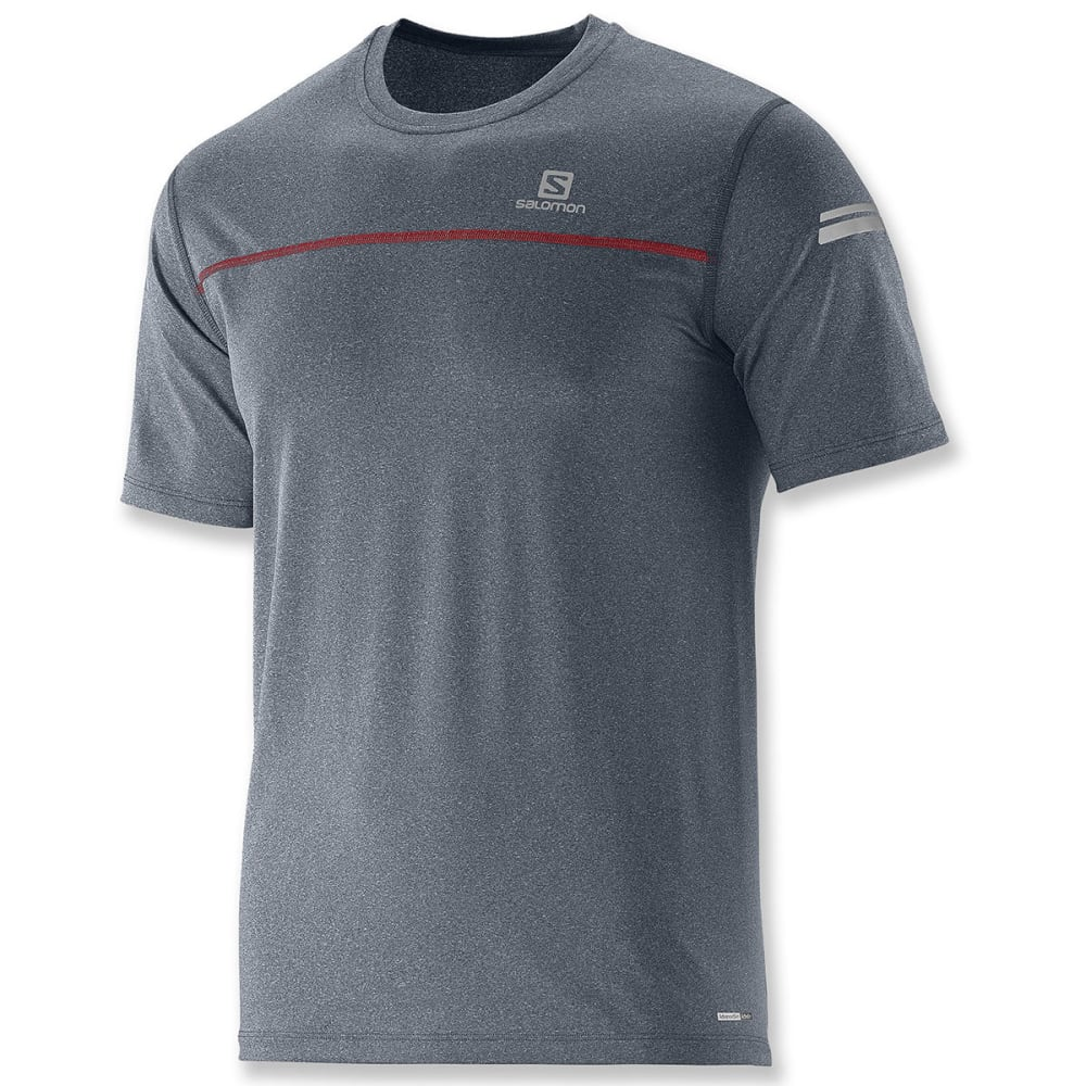 SALOMON Men's Park Tee - DARK CLOUD