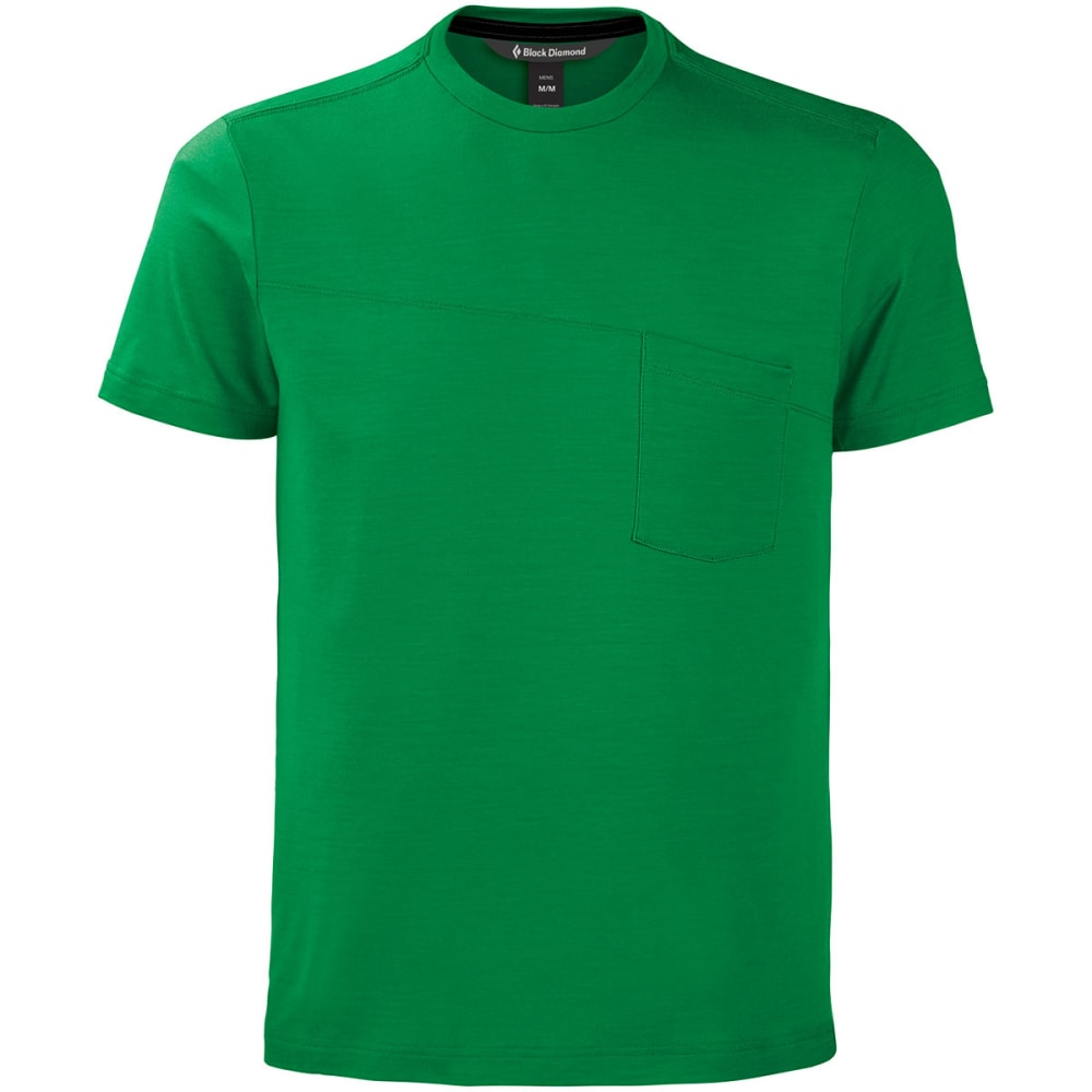 BLACK DIAMOND Men's Deployment Pocket T-Shirt - KELLY GREEN