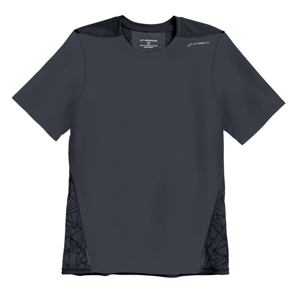 BROOKS Men's Rev III Shirt, S/S - ANTHRACITE