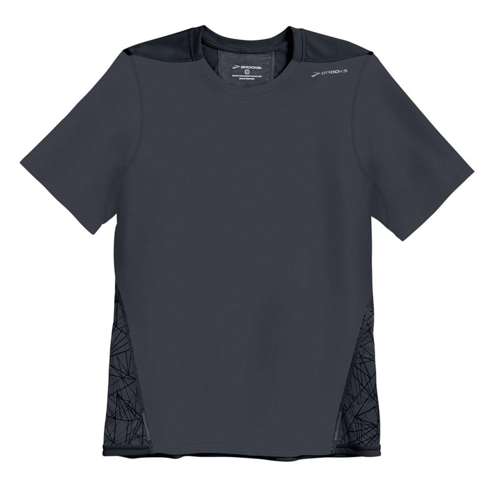 BROOKS Men's Rev III Shirt, S/S - ANTHRACITE