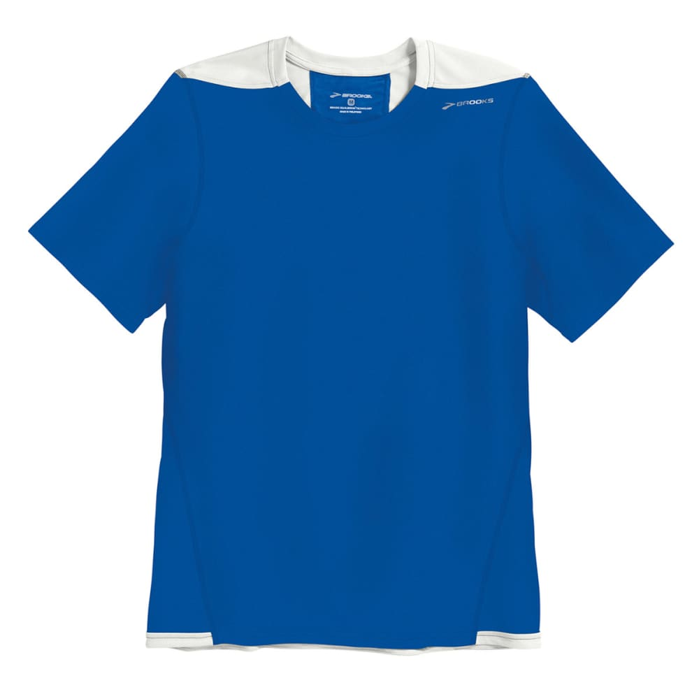 BROOKS Men's Rev III Shirt, S/S - ELECTRIC BLUE