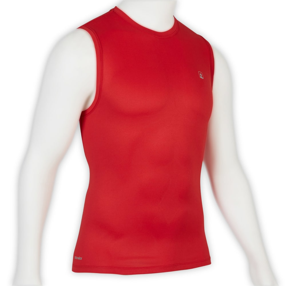 EMS® Men's Techwick® Essentials Sleeveless Shirt  - RIBBON RED