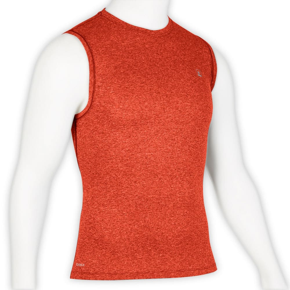 EMS Men's Techwick Essentials Sleeveless Shirt - RED CLAY HEATHER
