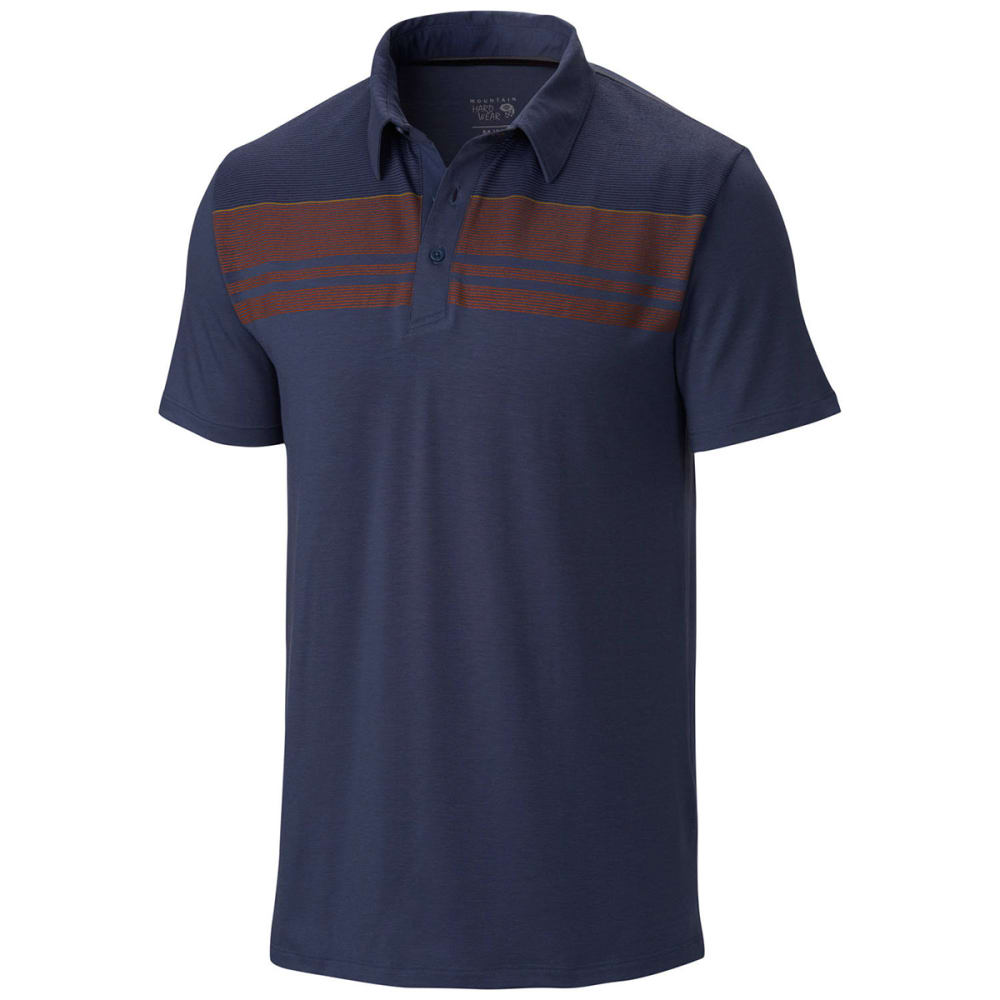MOUNTAIN HARDWEAR Men's DrySpun Stripe Polo, S/S - ZINC