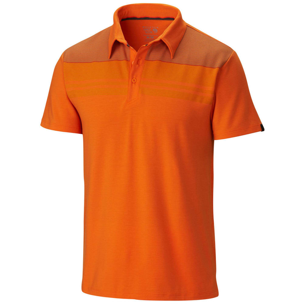 MOUNTAIN HARDWEAR Men's DrySpun Stripe Polo, S/S - VALENCIA