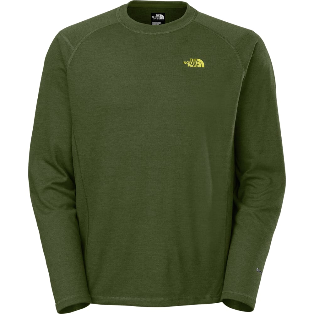 THE NORTH FACE Men's FlashDry   Long-Sleeve Crew Shirt - SCALLION GREEN