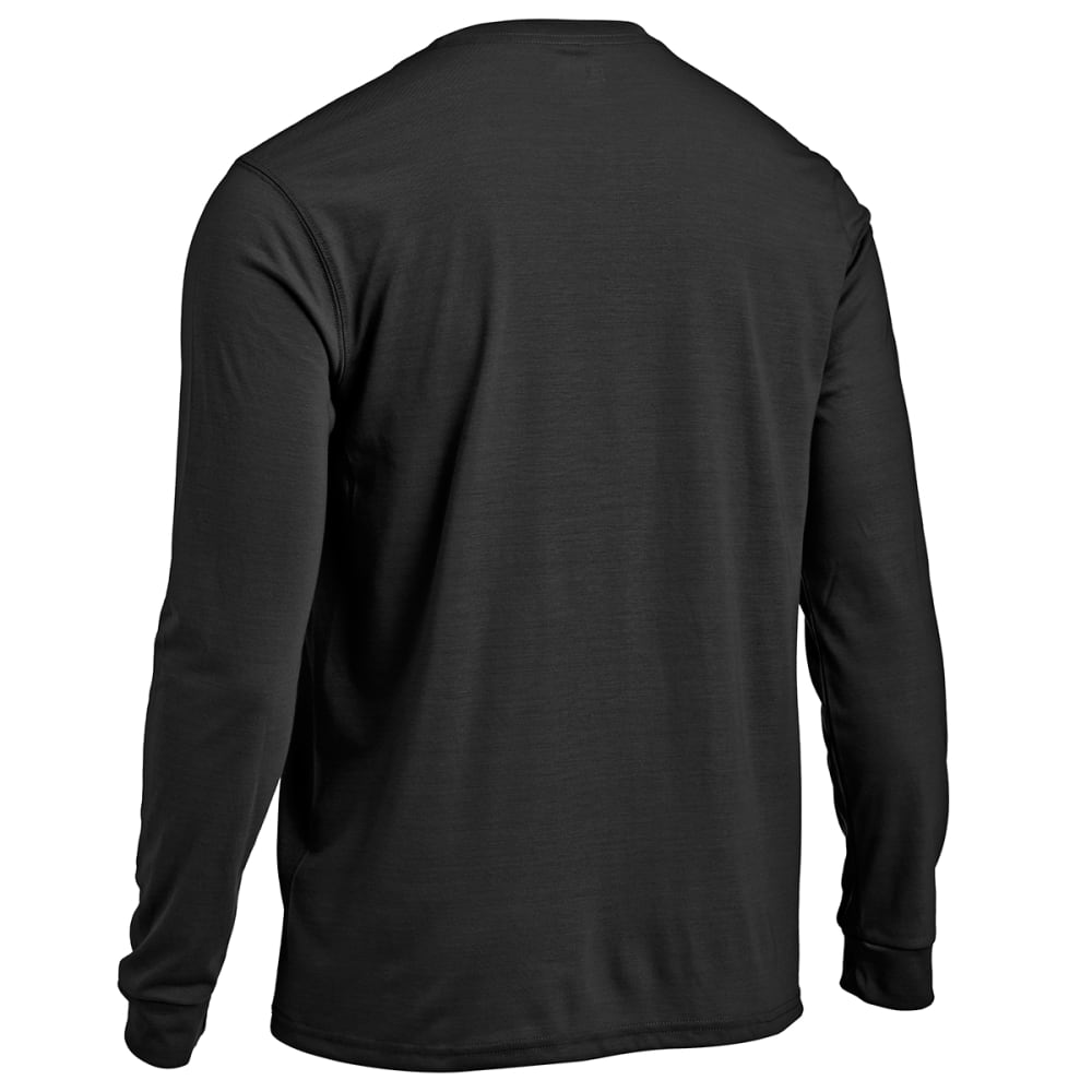 EMS Men's Techwick Vital Long-Sleeve Pocket Tee - JET BLACK HTR