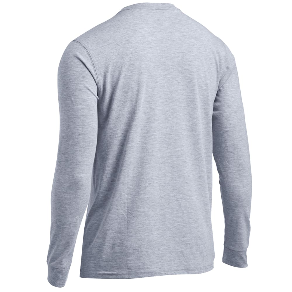 EMS Men's Techwick Vital Long-Sleeve Pocket Tee - NEUTRAL GREY HEATHER
