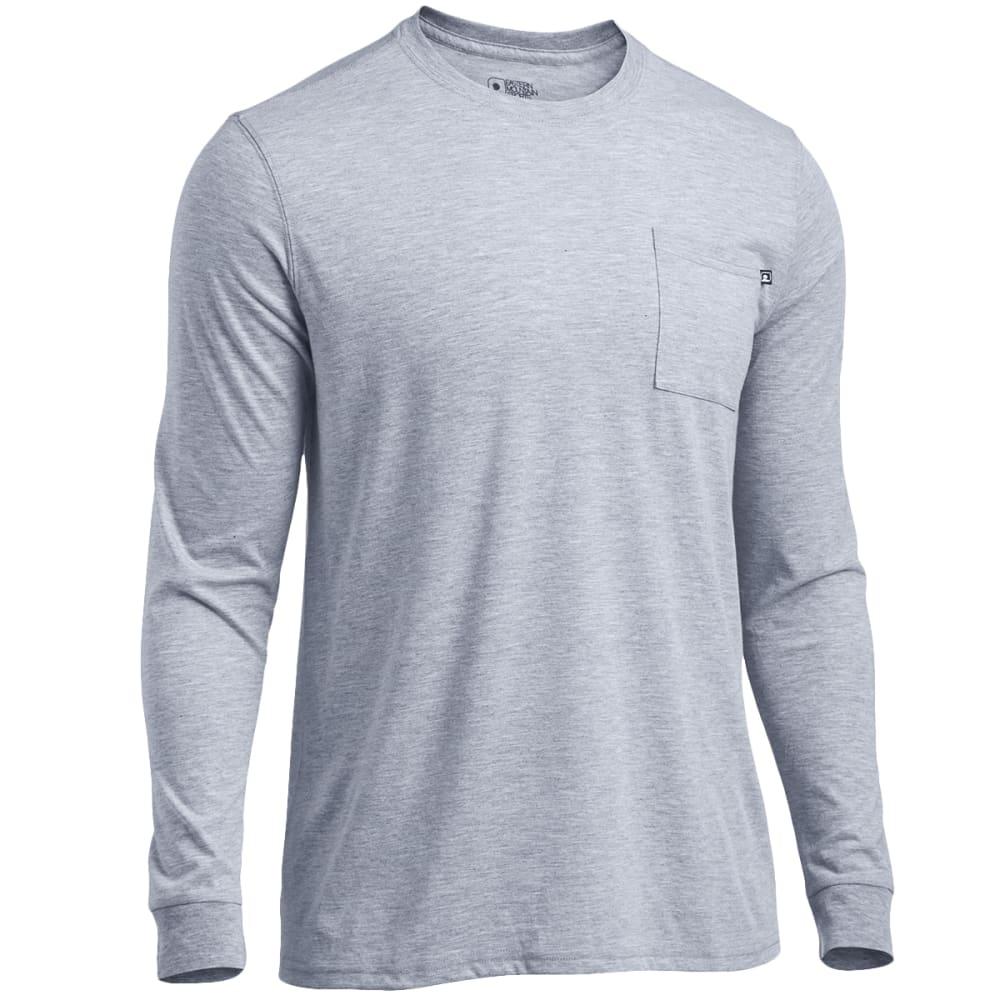 EMS® Men's Techwick® Vital Long-Sleeve Pocket Tee  - NEUTRAL GREY HEATHER