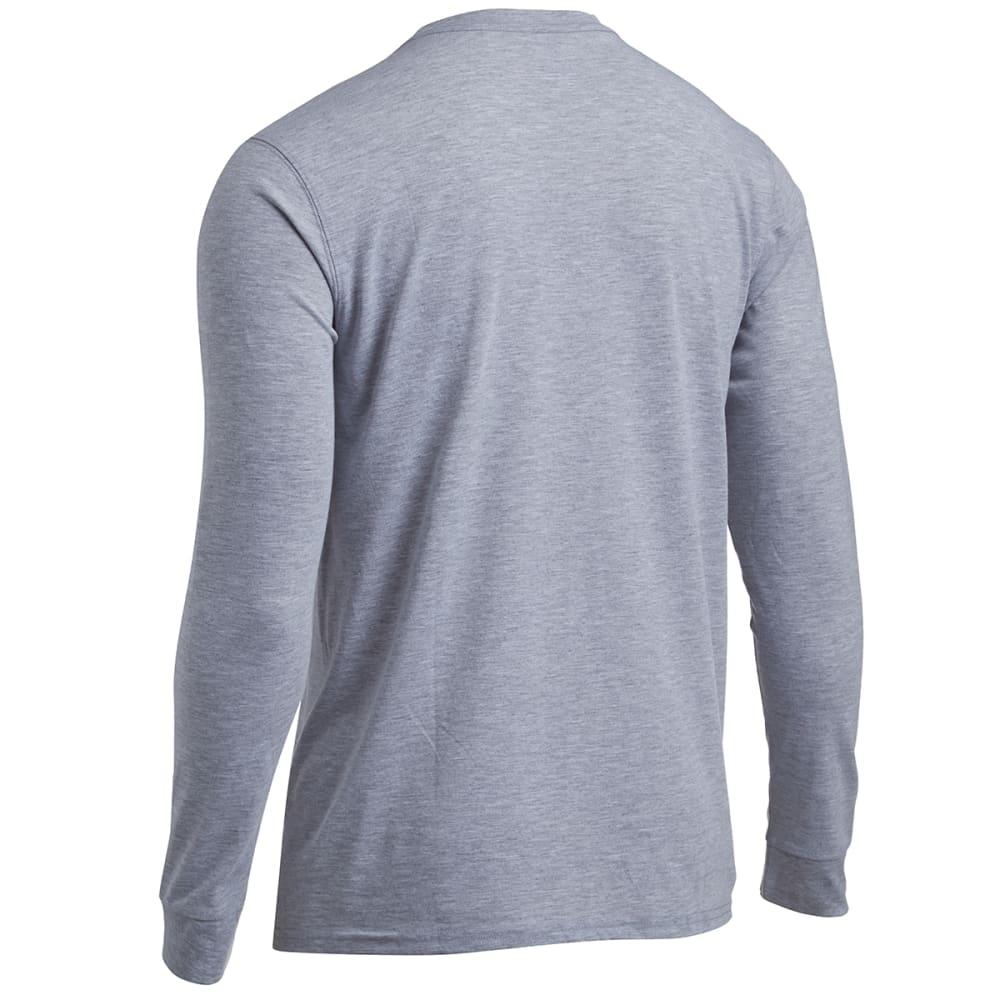 EMS® Men's Techwick® Vital Long-Sleeve Pocket Tee  - GRAY HEATHER