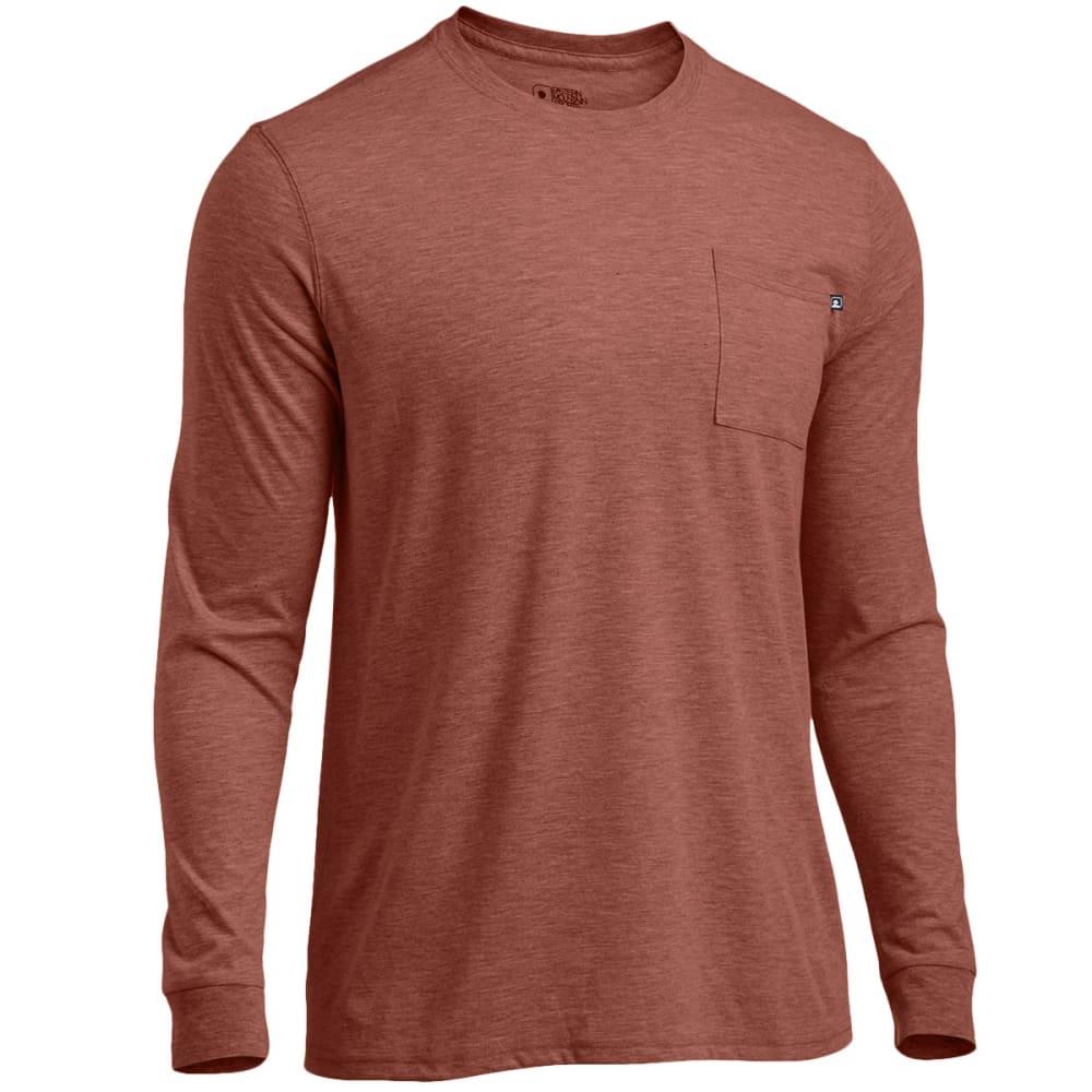 EMS® Men's Techwick® Vital Long-Sleeve Pocket Tee  - CAPPUCCINO HEATHER
