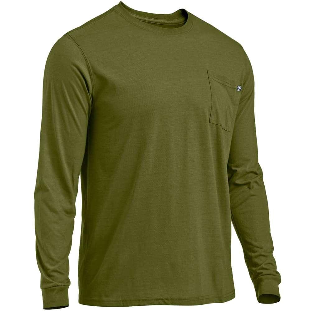 EMS® Men's Techwick® Vital Long-Sleeve Pocket Tee   - CHIVE