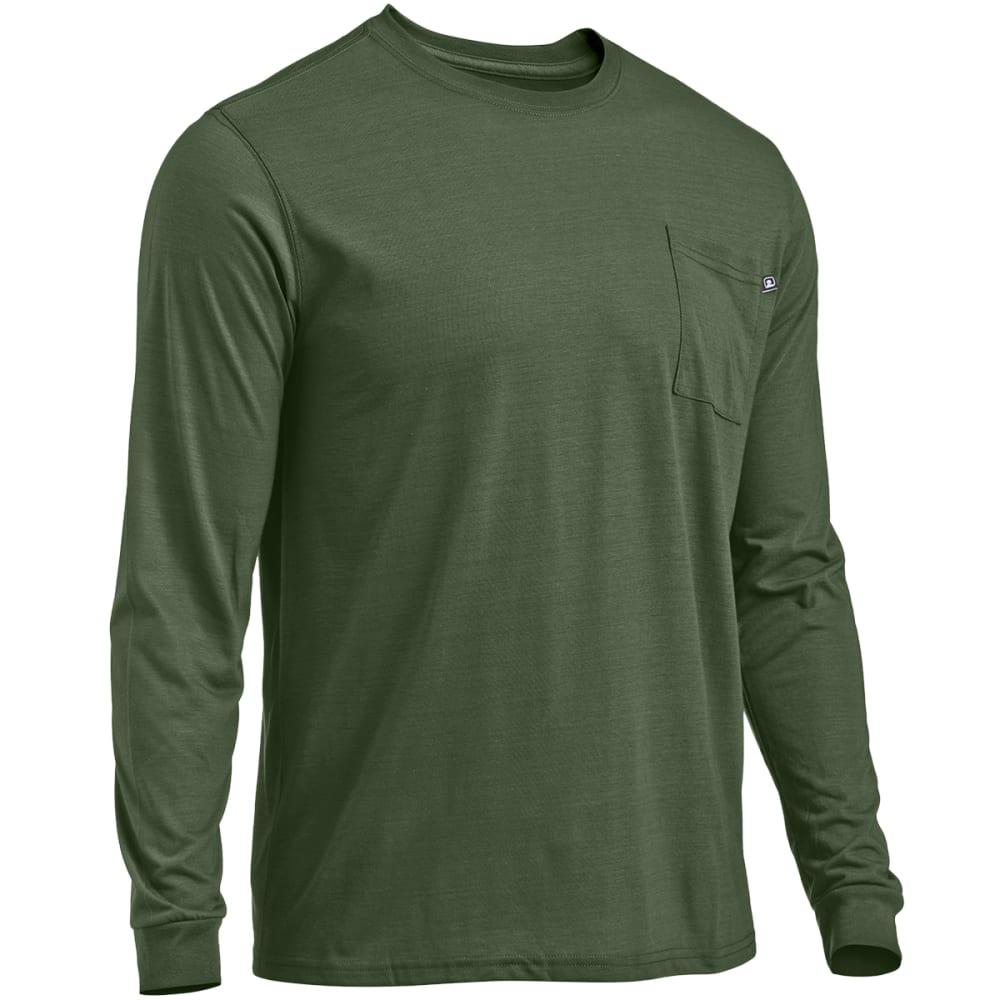 EMS® Men's Techwick® Vital Long-Sleeve Pocket Tee  - BRONZE GREEN