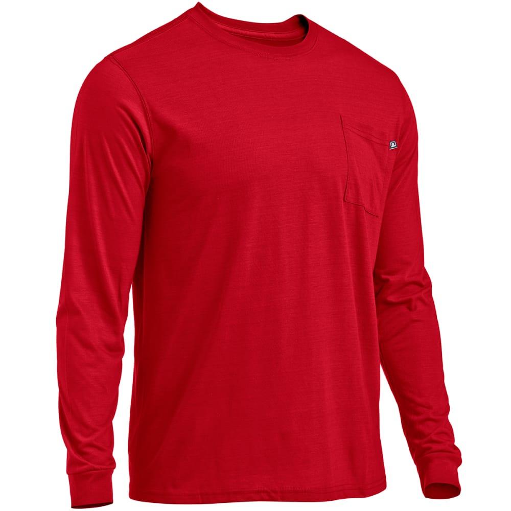 EMS® Men's Techwick® Vital Long-Sleeve Pocket Tee  - CHILI PEPPER