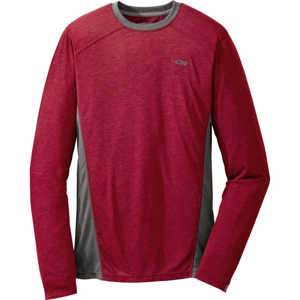 OUTDOOR RESEARCH Men's Sequence L/S Crew - REDWOOD/CHARCOAL