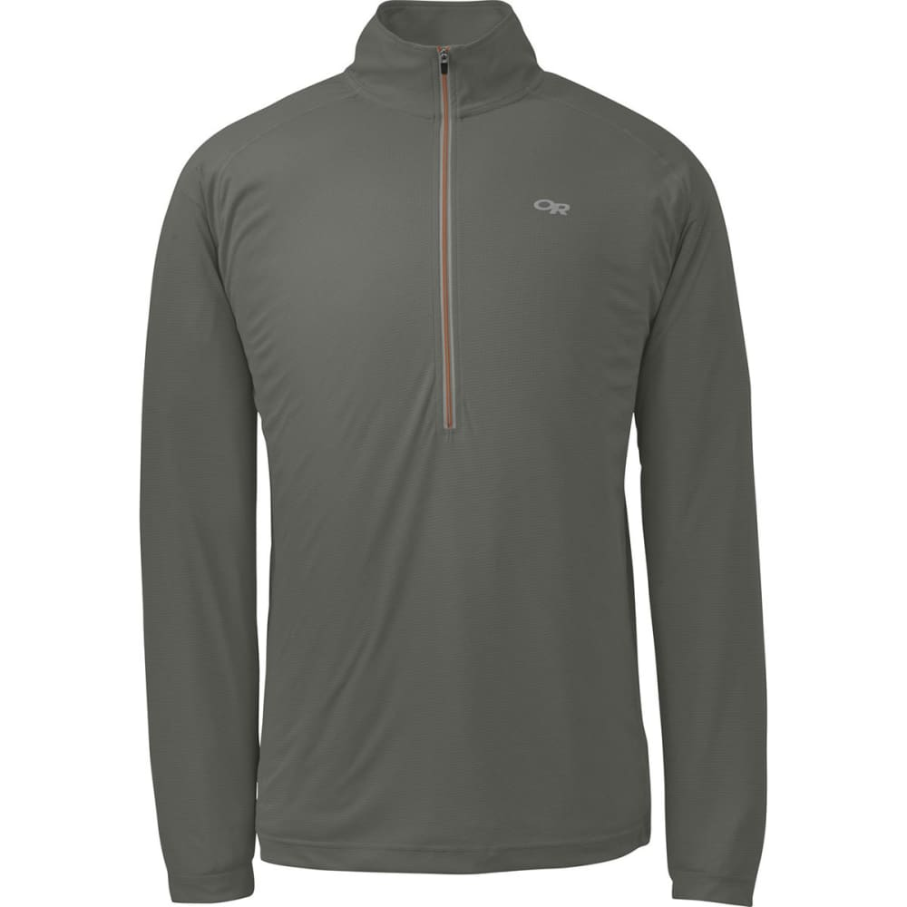 OUTDOOR RESEARCH Men's Echo Zip Shirt - PEWTER