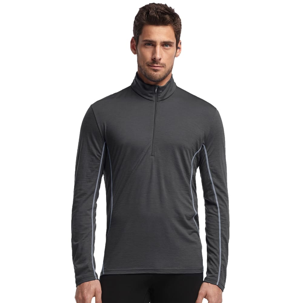 ICEBREAKER Men's Aero Featherweight 1/2 Zip, L/S - MONSOON/METAL