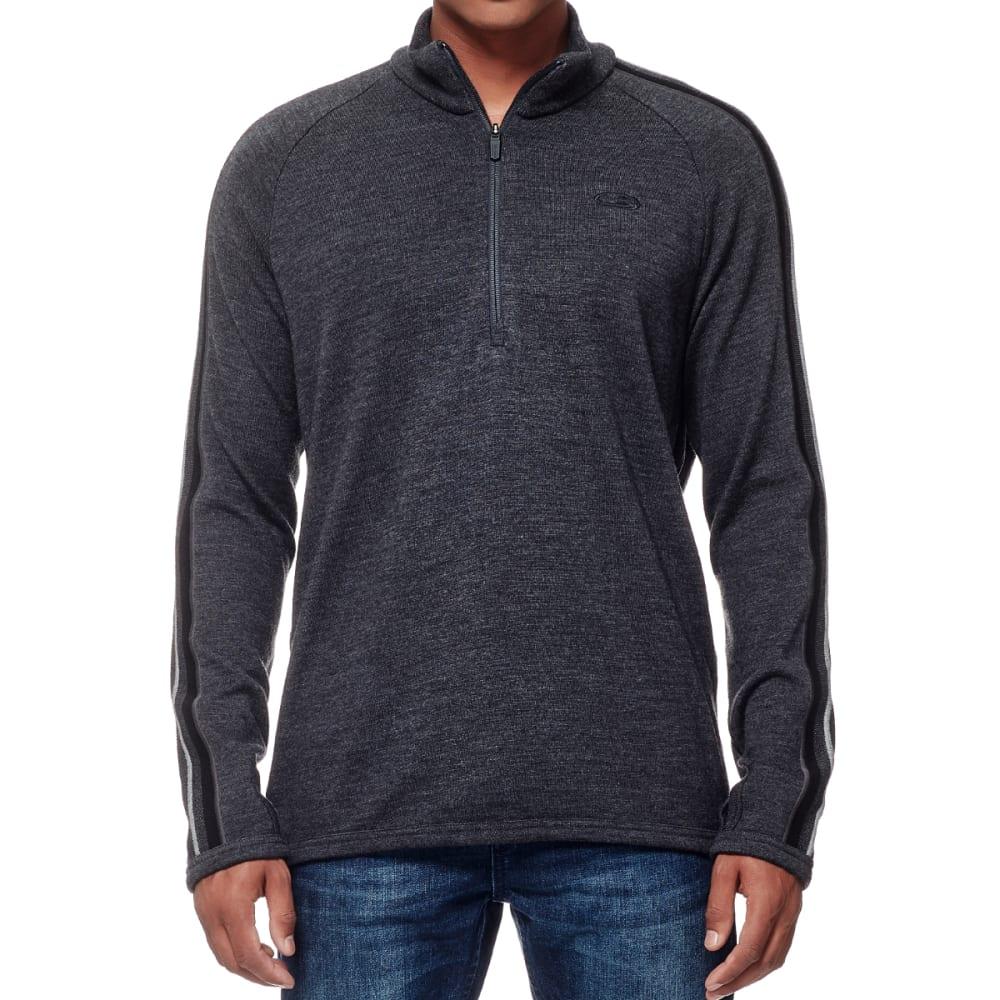 ICEBREAKER Men's Coronet 1/2 Zip Sweater - JET HTHR/BLK/JET HTH