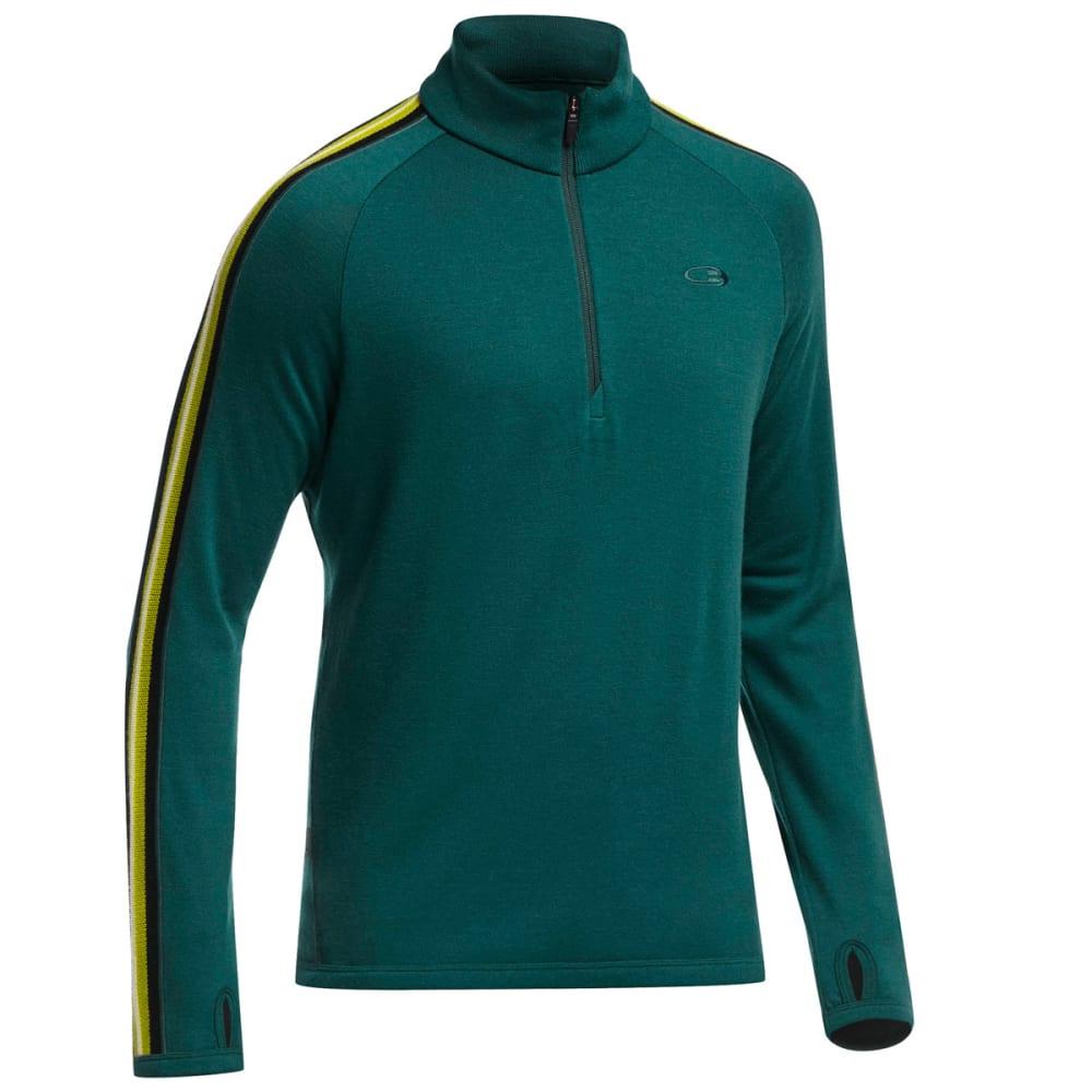 ICEBREAKER Men's Coronet ½  Zip Sweater - PINE/BLACK