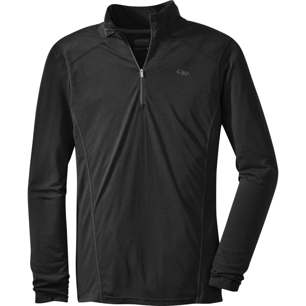 OUTDOOR RESEARCH Men's Sequence ¼ Zip Top - BLACK