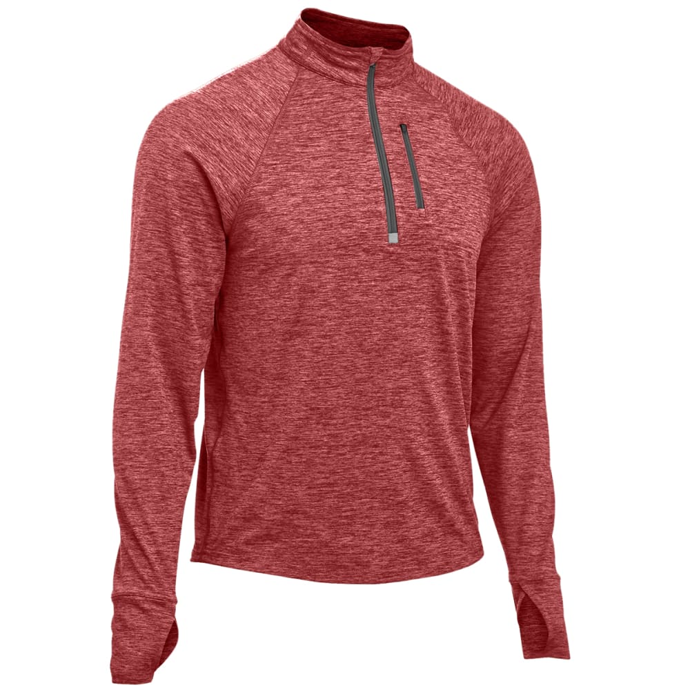 EMS® Men's Techwick® Transition  ½ Zip   - BRICK RED HEATHER