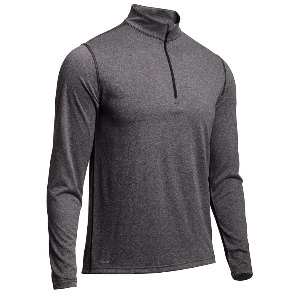 EMS® Men's Techwick® Essentials ¼ Zip  - PHANTOM HEATHER