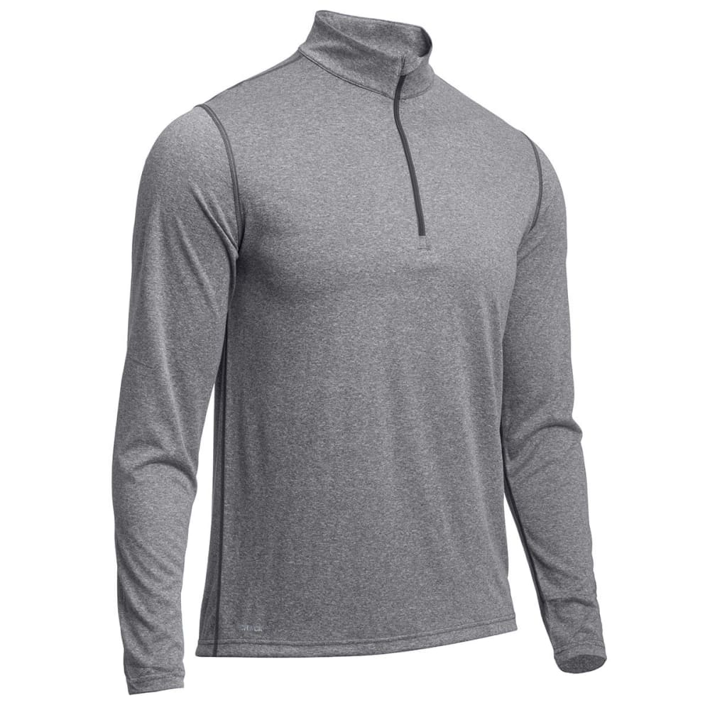 EMS® Men's Techwick® Essentials  ¼ Zip   - CHARCOAL