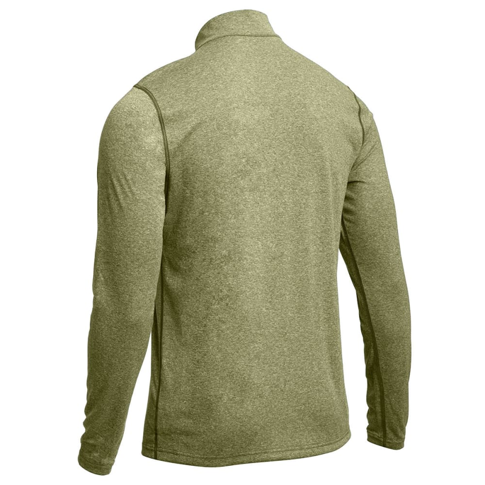 EMS® Men's Techwick® Essentials  ¼ Zip   - FOREST HEATHER