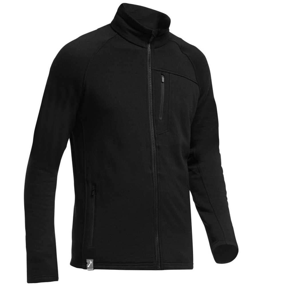 ICEBREAKER Men's Sierra Zip Jacket - BLACK