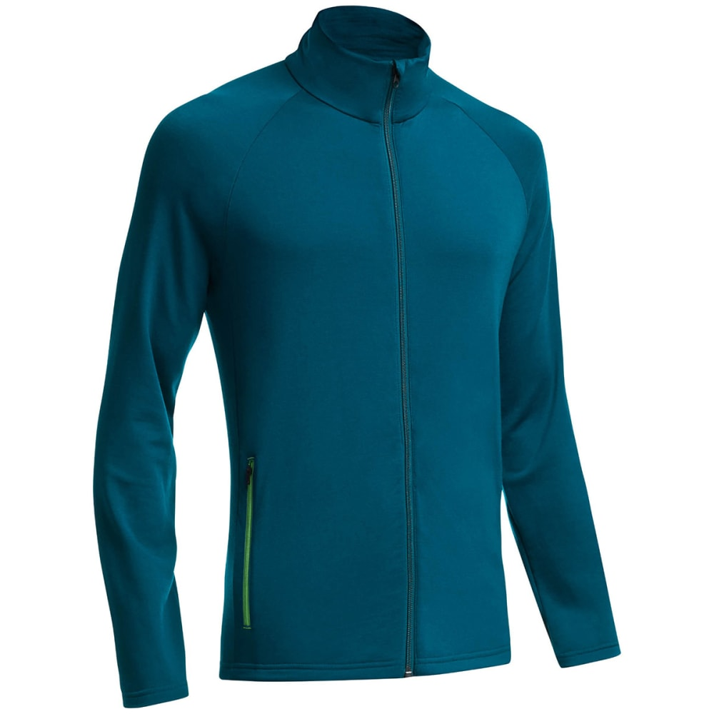 ICEBREAKER Men's Victory Long-Sleeve Zip - NIGHT/ BALSAM