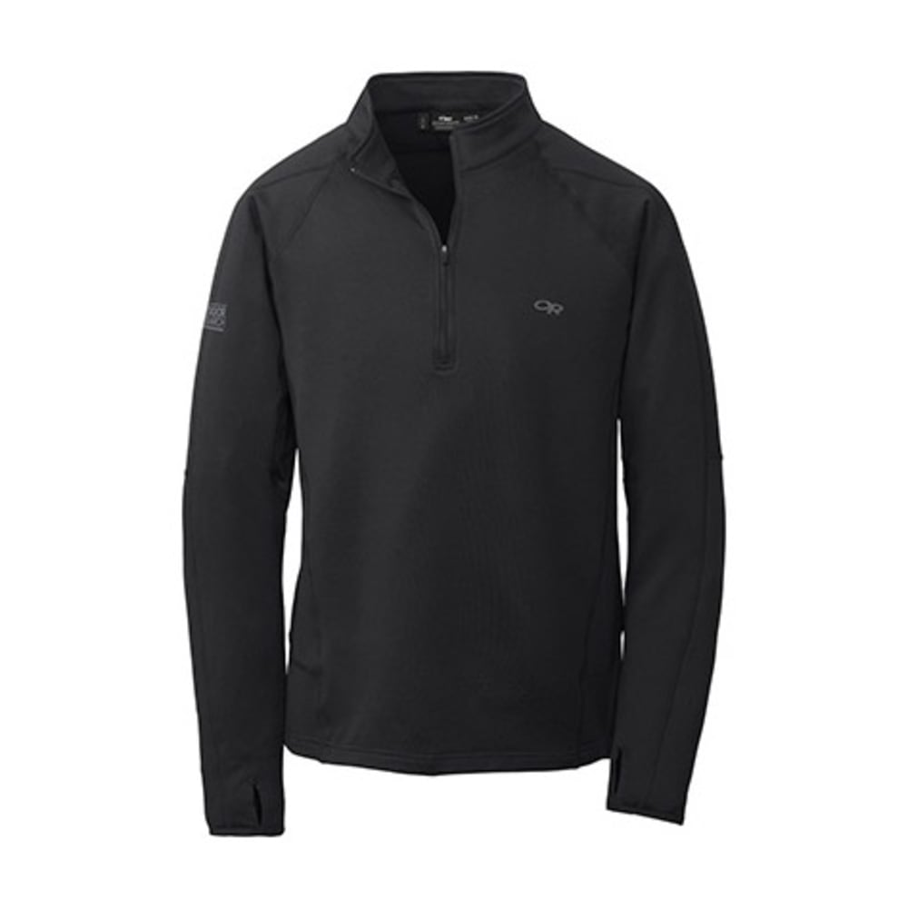 OUTDOOR RESEARCH Men's Radiant LT Zip Top - 0001-BLACK