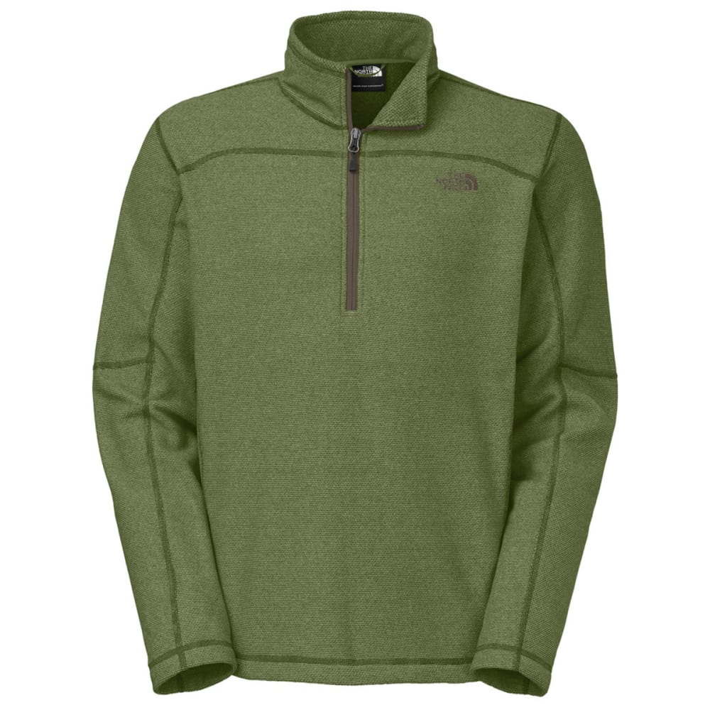 THE NORTH FACE Men's Texture Cap Rock ¼ Zip Jacket - SCALLION GREEN