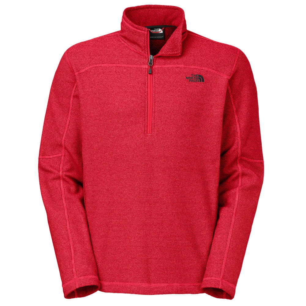THE NORTH FACE Men's Texture Cap Rock 1/4 Zip Jacket - TNF RED