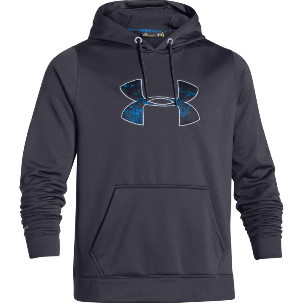 Under Armour Mens Rival Fleece Hoodie - Black - Size S 1266769