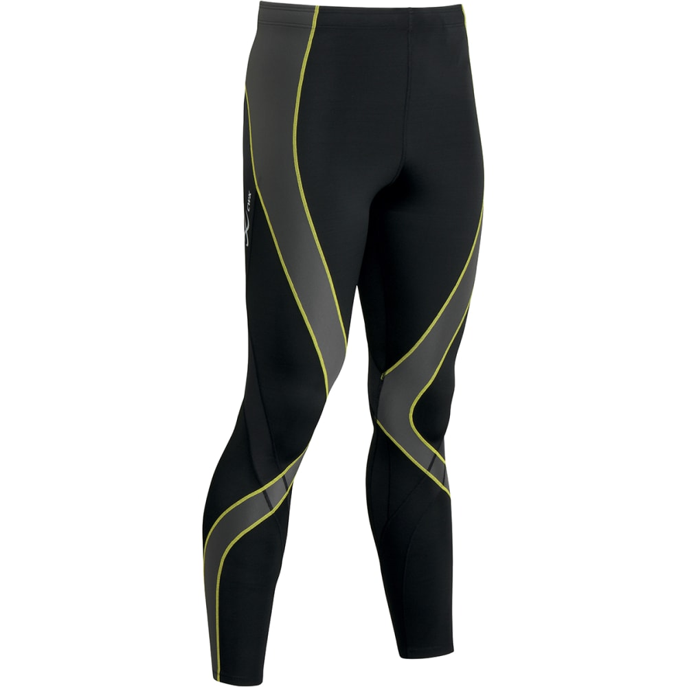 CW-X Men's Pro Tights - BLACK/YELLOW