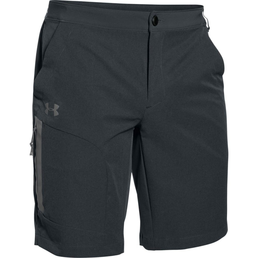 UNDER ARMOUR Men's ArmourVent Trail Shorts - ANTHRACITE