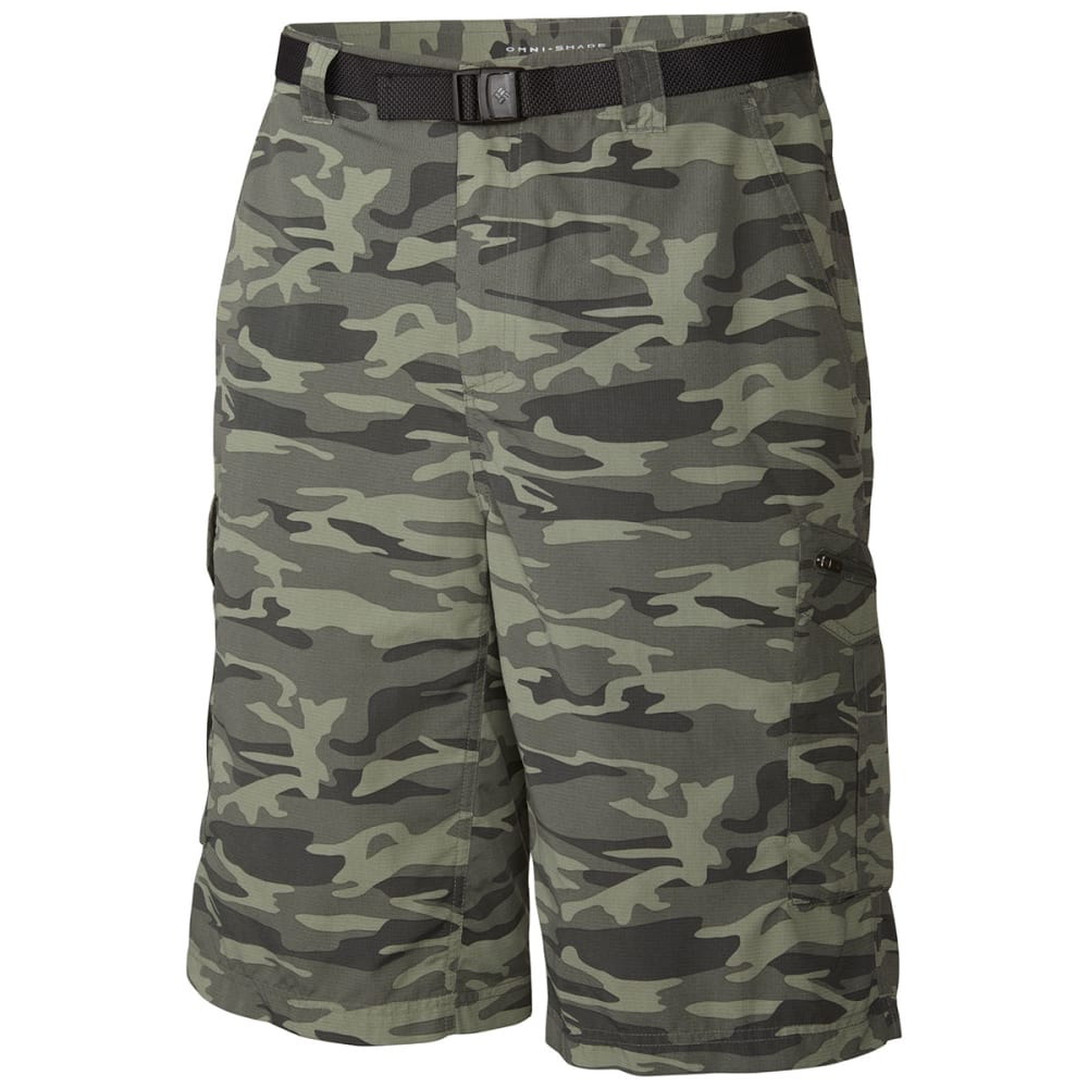 COLUMBIA Men's Silver Ridge™ Printed Cargo Shorts - GRAVEL CAMO