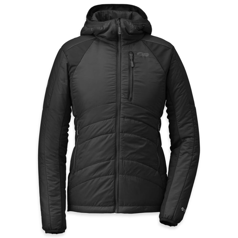 OUTDOOR RESEARCH Women's Cathode Hoodie - BLACK/CHARCOAL
