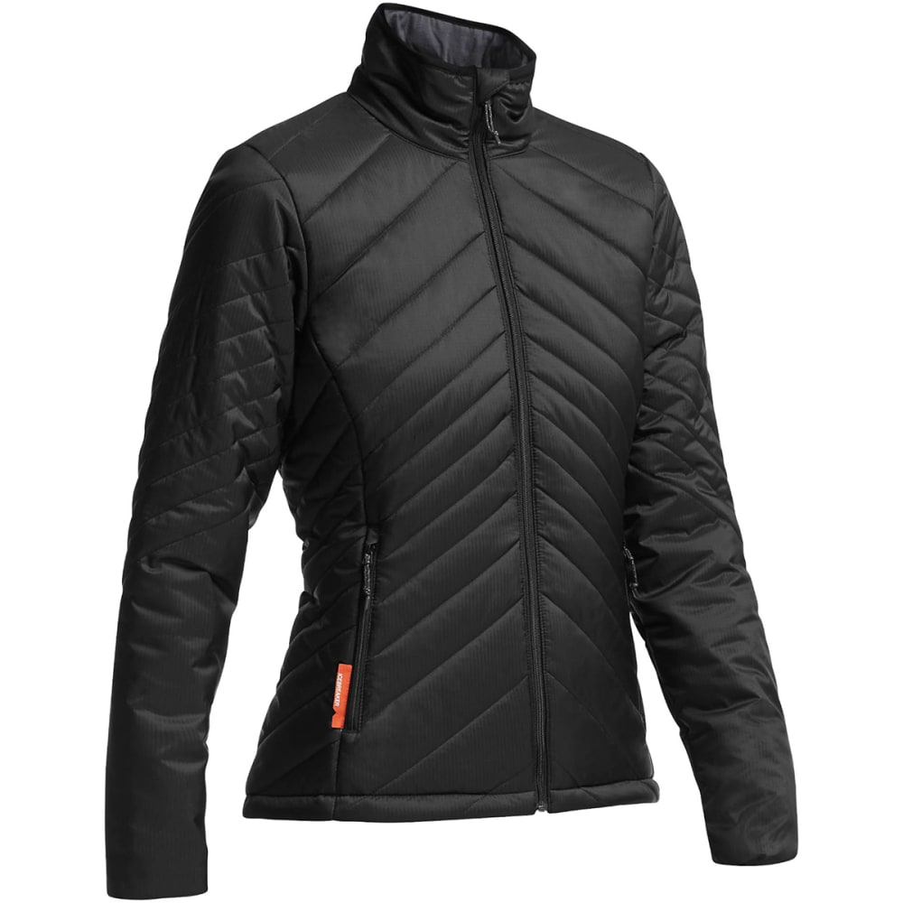 ICEBREAKER Women's MerinoLOFT™ Stratus Long Sleeve Zip Jacket - BLACK/ MONSOON/ BLAC