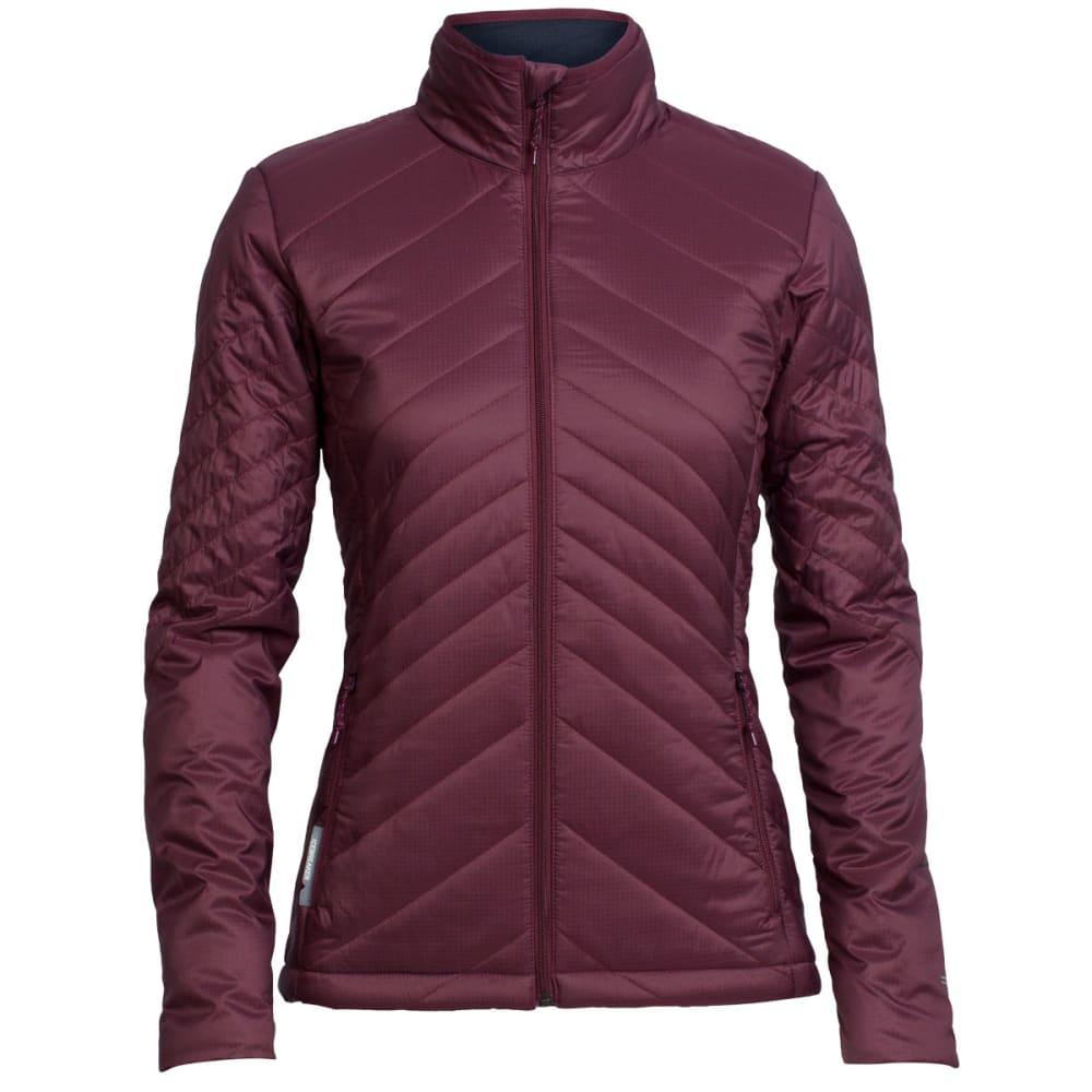 ICEBREAKER Women's MerinoLOFT™ Stratus Long Sleeve Zip Jacket - REDWOOD/PELORUS/PEL