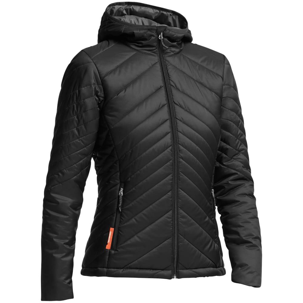 ICEBREAKER Women's MerinoLOFT™ Stratus Long Sleeve Zip Hooded Jacket - BLACK/ MONSOON/ BLAC