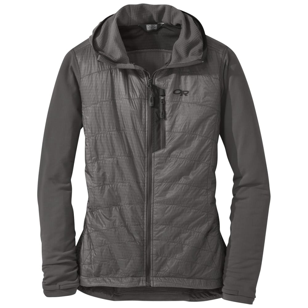 OUTDOOR RESEARCH Women's Deviator Hoody - 0008 PEWTER