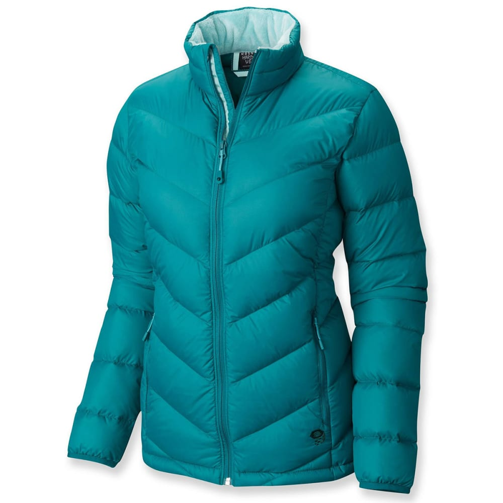 MOUNTAIN HARDWEAR Women's Ratio Down Jacket - TEAL GREEN