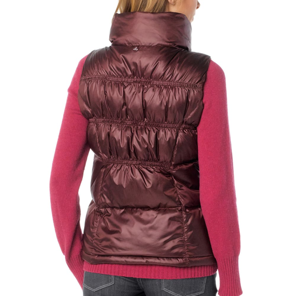 PRANA Women's Milly Down Vest - MAHOGANY